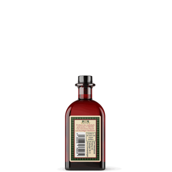 V-SINNE Raspberry Magic Gin Miniatur 40ml Rückseite