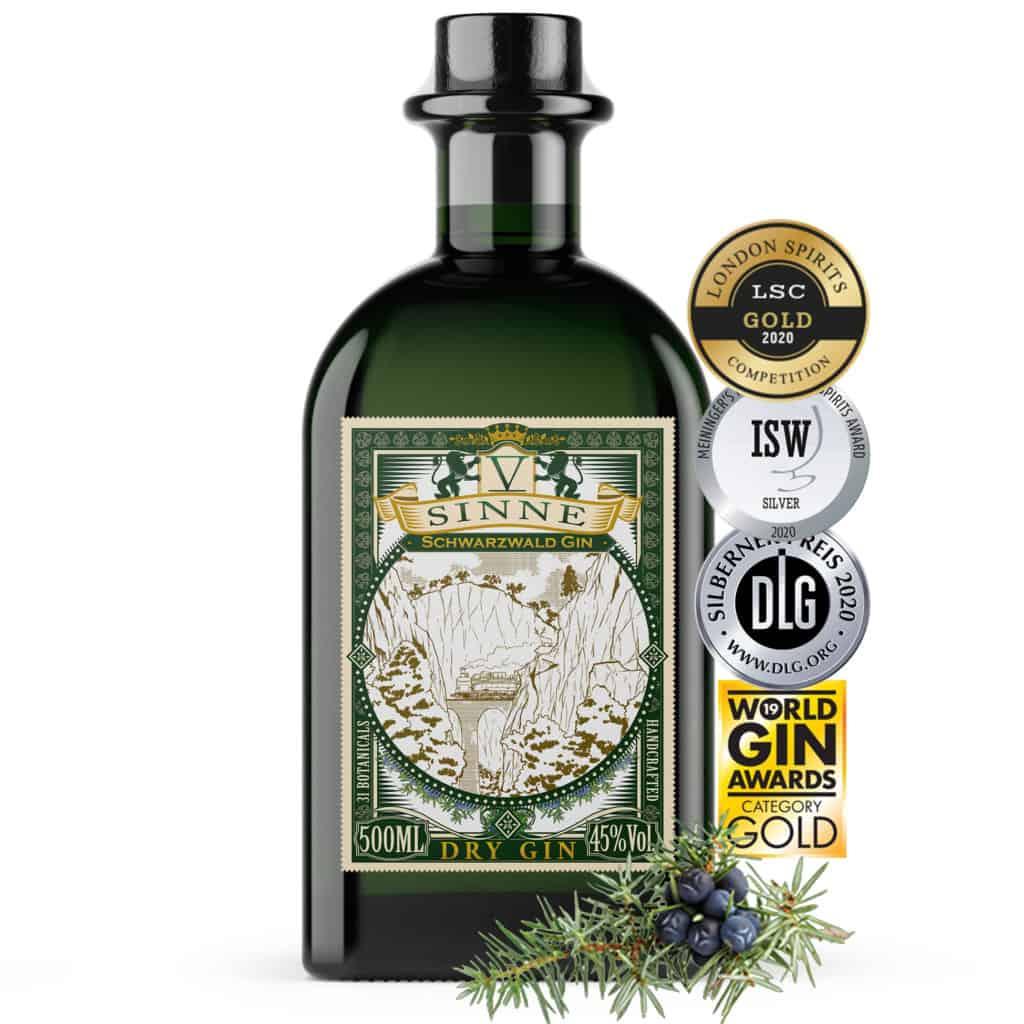V-SINNE Schwarzwald Gin International Prämiert