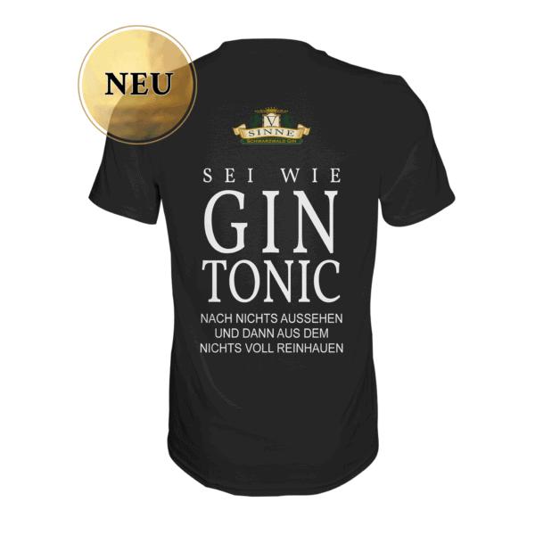 V-SINNE Schwarzwald Gin Shirt Sei wie ein Gin Tonic