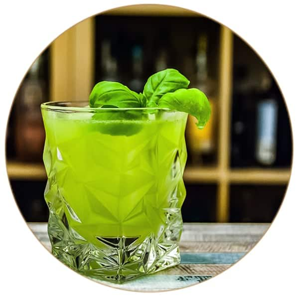 V-SINNE Gin Cocktail Basil Smash