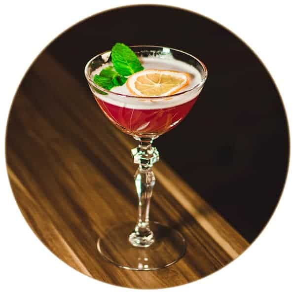 V-SINNE Gin Cocktail Clover Club