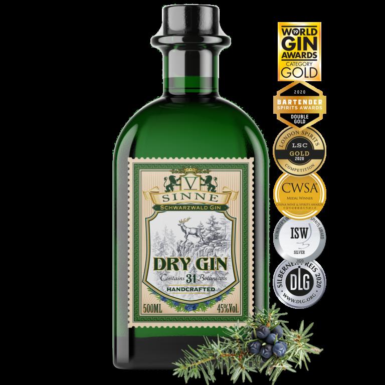 V-SINNE Schwarzwald Dry Gin International Gold Prämiert