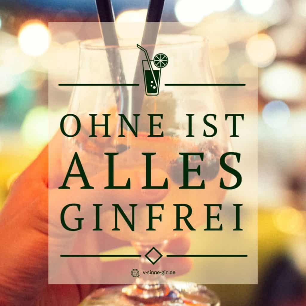 Gin Spruch: Ohne ist alles Ginfrei.