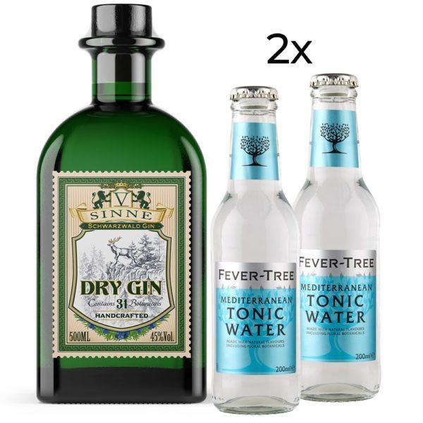 V Sinne Schwarzwald Gin dry tonic water set fever tree mediterranean