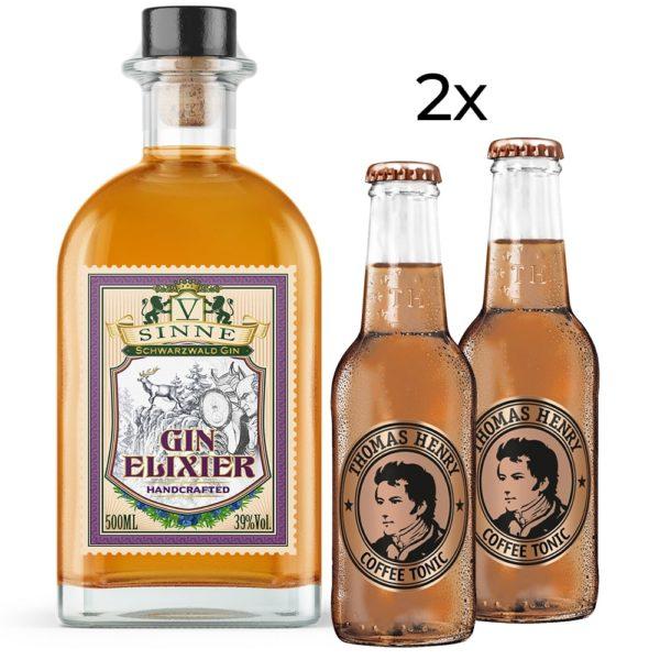V sinne Fünf schwarzwald gin elixier mit 2 coffee Tonic thomas henry