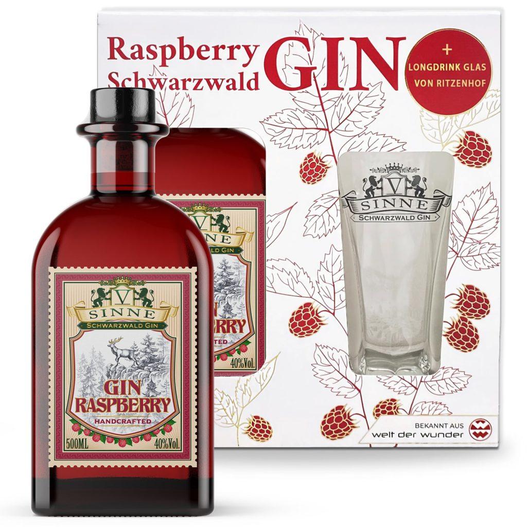 V-SINNE Raspberry Gin Geschenkset mit Ritzenhoff Glas